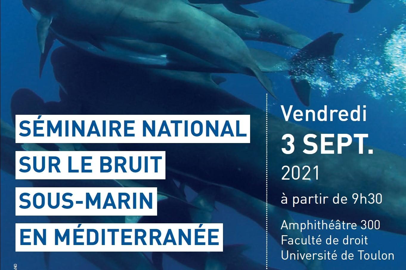 Séminaire national sur le bruit sous-marin en Méditerranée